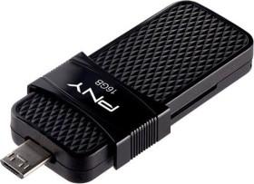 PNY Duo Link OTG Micro USB 3.0 16GB, USB-A 3.0/USB 2.0 Micro-B (P-FD16GOTGSLMB-GE)