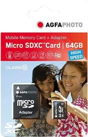 Lupus Imaging AgfaPhoto High Speed R45/W15 microSDXC 64GB Kit, UHS-I U1, Class 10 (10582)