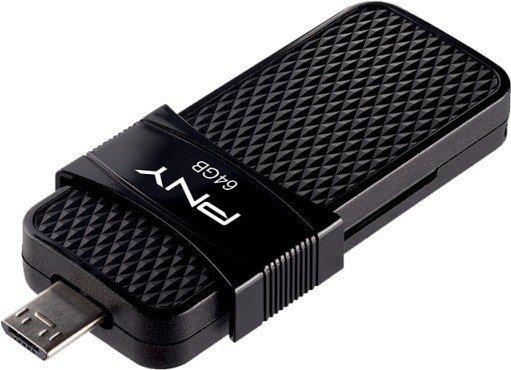 PNY Duo Link OTG Micro USB 3.0 64GB, USB-A 3.0/USB 2.0 Micro-B (P-FD64GOTGSLMB-GE)