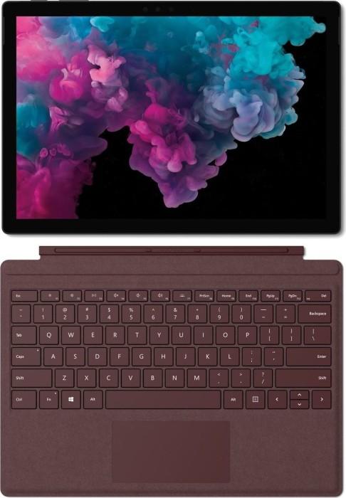 Microsoft Surface Pro 6 Platinum - Core i7-8650U, 16GB RAM, 1TB SSD + Surface Pro Signature Type Cover burgunder rot