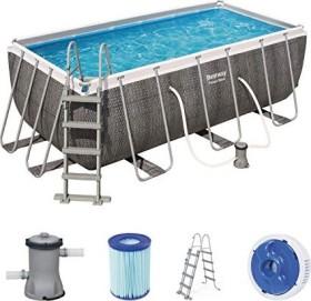 Bestway Power Steel Deluxe Rectangular Frame Pool 412x201x122cm (56722)