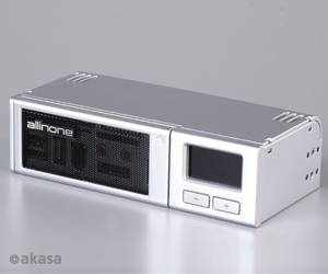 "Akasa AK-ALL-02 silver, 5.25"" multifunctional frontpanel"