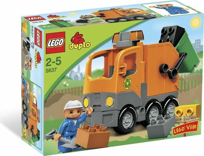 LEGO DUPLO Stadt - Müllabfuhr orange (5637) -- via Amazon Partnerprogramm