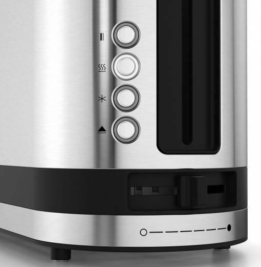 WMF 04.1412.001 WMF KÜCHENminis® Toaster Edelstahl matt 900 Watt, Schlitze: 1