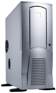 Chieftec Scorpio TX-10SLD, Midi-Tower with door, silver (various Power Supplies)