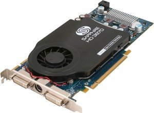Sapphire Radeon HD 3870, 1GB GDDR4, 2x DVI, TV-out, PCIe 2.0, bulk/lite retail (11122-22-10/-20)