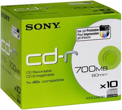Sony CD-R 80min/700MB, 10-pack -- via Amazon Partnerprogramm