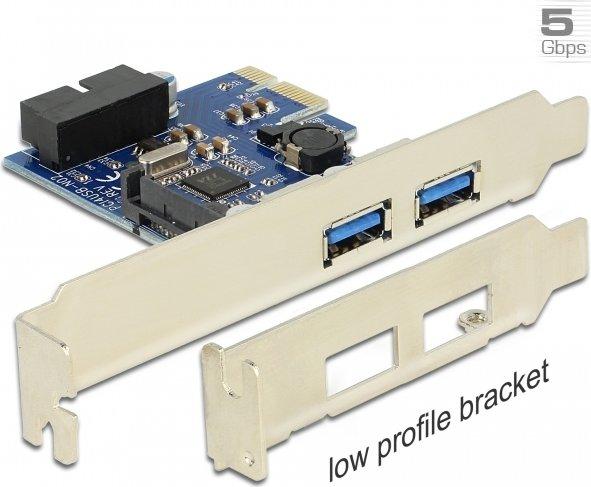 DeLOCK 2x USB 3.0, 1x USB 3.0 internal (19-Pin), PCIe x1 (89315)