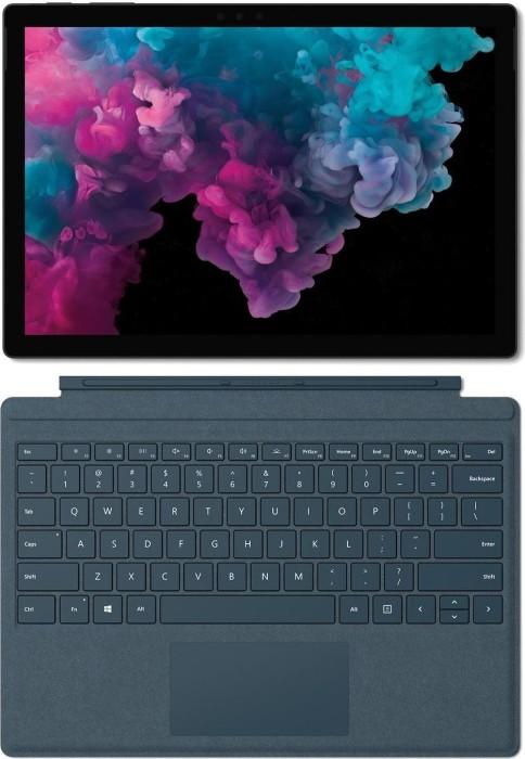 Microsoft Surface Pro 6 Platinum, Core i5-8250U, 8GB RAM, 128GB SSD + Surface Pro Signature Type Cover kobalt blau