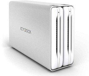"Icy Dock MB662UEAB-2S silber, 3.5"", USB-A 2.0/FireWire 400/800 (96607)"