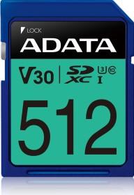 ADATA Premier Pro R100/W80 SDXC 512GB, UHS-I U3, Class 10 (ASDX512GUI3V30S-R)