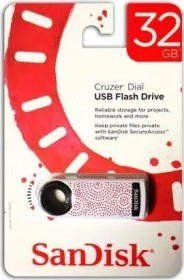 SanDisk Cruzer Dial 32GB, USB-A 2.0 (SDCZ57-032G-T4RS)