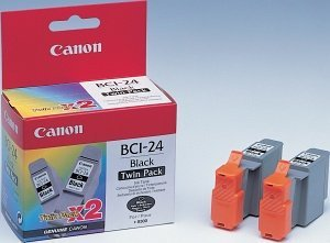Canon BCI-24BK Ink black, 2-pack (6881A009)