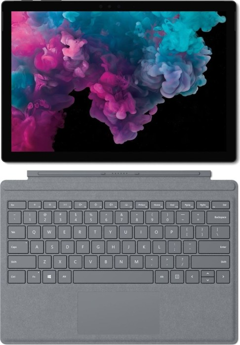 Microsoft Surface Pro 6 Black, Core i5-8250U, 8GB RAM, 256GB SSD + Surface Pro Signature Type Cover platin grau