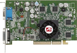 ATI FireGL T2-128, Radeon 9600 Pro, 128MB DDR, VGA, DVI, TV-out (100-505066)