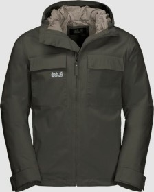 Jack Wolfskin Winter Rain Jacke dark moss (Herren) (1112161-5100)