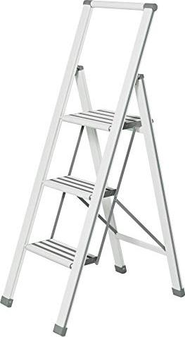 Wenko aluminium household ladder 3 stages white (601016100)