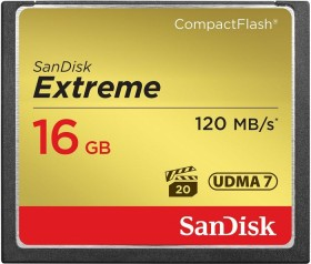 SanDisk Extreme R120/W60 CompactFlash Card 16GB (SDCFXS-016G)