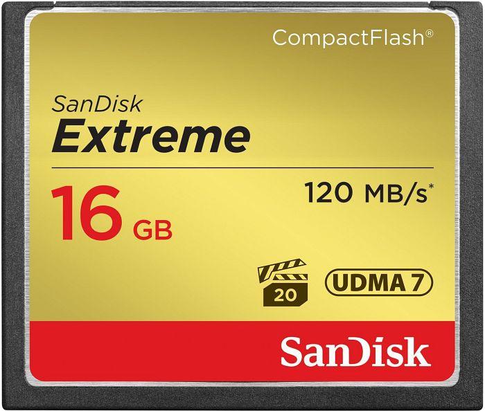 SanDisk R120/W60 CompactFlash Card [CF] Extreme 16GB (SDCFXS-016G)