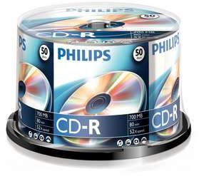Philips CD-R 80min/700MB, 50er-Pack (CR7D5NB50)