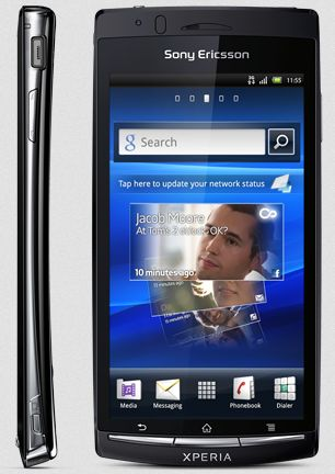 Sony Ericsson Xperia arc S gloss black -- (c) computerbase.de
