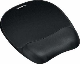 Fellowes Memory Foam wrist rest with mousepad, black (9176501)