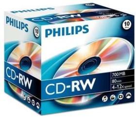 Philips CD-RW 80min/700MB, 10er-Pack (CW7D2NJ10)