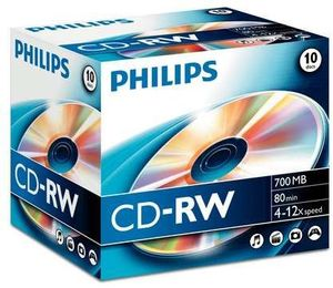 Philips CD-RW 80min/700MB, 10-pack (CW7D2NJ10)
