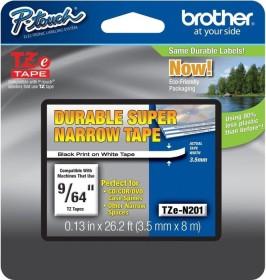 Brother TZe-N201 labelling tape 3.5mm, black/white (TZEN201)