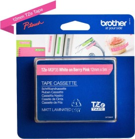 Brother TZe-MQP35 labelling tape 12mm, white/pink (TZEMQP35)