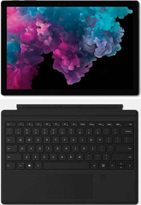 Microsoft Surface Pro 6 Platinum - Core i7-8650U, 16GB RAM, 1TB SSD + Surface Pro Type Cover mit Fingerprint ID schwarz