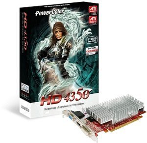PowerColor Radeon HD 4350, 512MB DDR2, VGA, DVI, HDMI (AX4350 512MD2-H/R71BL-NE3H)
