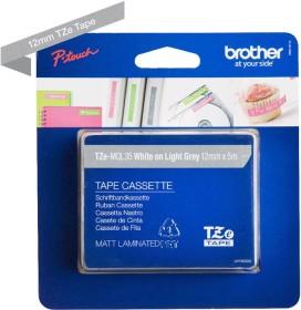 Brother TZe-MQL35 labelling tape 12mm, white/grey light (TZEMQL35)