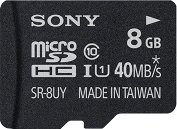 Sony R40 microSDHC 8GB Kit, UHS-I, Class 10 (SR8UYA)