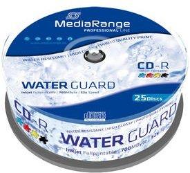 MediaRange Professional Line CD-R 80min/700MB Waterguard, 25er Spindel printable (MRPL512)