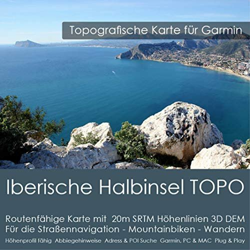 Garmin digital cards on CD - topographic map Spain (901280)
