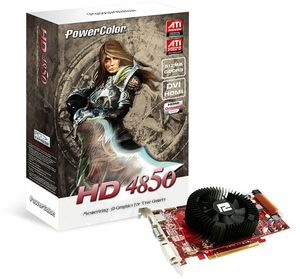 PowerColor Radeon HD 4850, 512MB DDR3, VGA, DVI, HDMI (AX4850 512MD3-HV2/R77CC-PE3D)