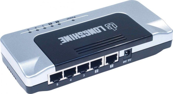 Longshine FS6100 Desktop Switch, 5x RJ-45 (LCS-FS6105)