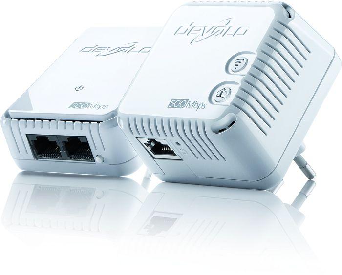 devolo dLAN 500 WiFi Starter Kit, 2er-Pack (9083/9774/9089)