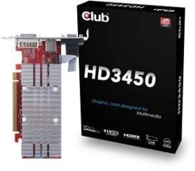 Club 3D Radeon HD 3450, 512MB DDR2, VGA, DVI, HDMI (CGAX-3452I)