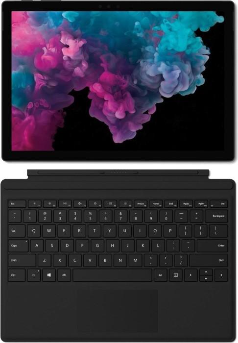 Microsoft Surface Pro 6 Platinum - Core i7-8650U, 8GB RAM, 256GB SSD + Surface Pro Type Cover schwarz