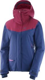 Salomon QST Snow ski jacket medieval blue/beet red (ladies) (396979)
