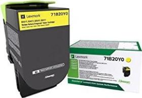 Lexmark Return Toner 71B20Y0 gelb