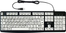 Geemarc Großschrifttastatur V3 weiß, USB, DE (KBSV3_WH_GE)