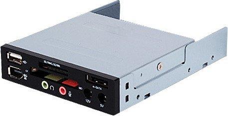 SilverStone FP35 Multi-Slot-Cardreader, USB 2.0 9-Pin Stecksockel [Stecker] (SST-FP35/40046)