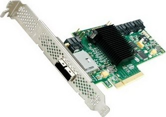LSI SAS 9212-4i4e, SAS 6Gb/s, PCIe 2.0 x8 (LSI00192) -- via Amazon Partnerprogramm