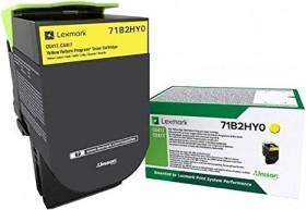 Lexmark Return Toner 71B2HY0 gelb hohe Kapazität
