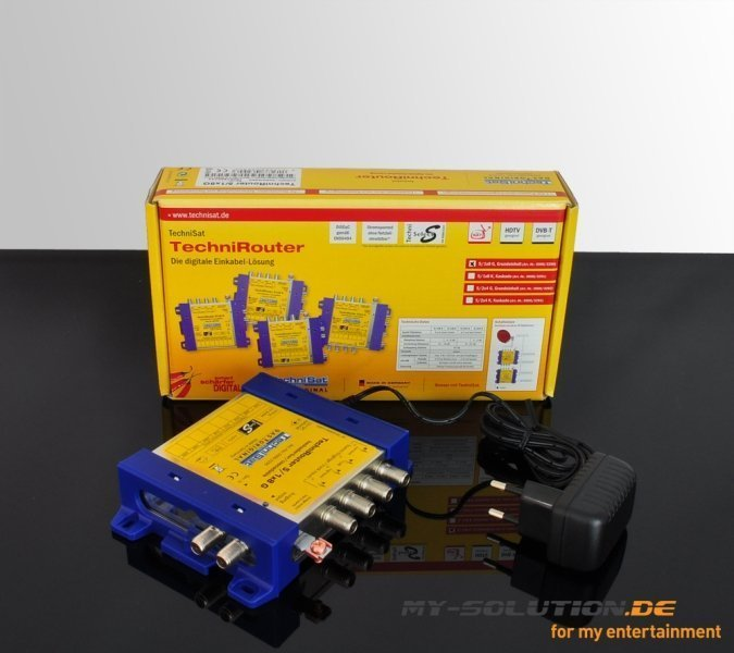 TechniSat TechniRouter 5/1x8 G single cable multi-switch (0000/3290) -- (c) My-Solution.de