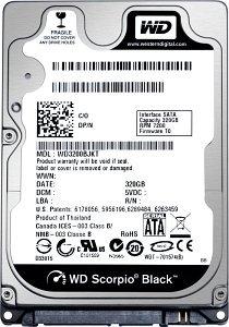 Western Digital WD Scorpio Black 160GB, SATA 3Gb/s (WD1600BJKT)