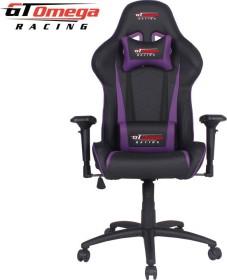 GT Omega Racing Pro Next Gamingstuhl, schwarz/violett (OC-F0016)
